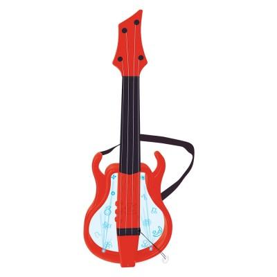 GUITARRA MUSICAL STARS COM LUZES 44,5 CM  02 MODOS VERMELHA - COM INMETRO - DMT5382-VM