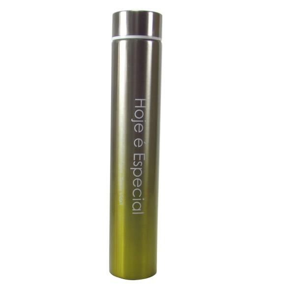 GARRAFA DE INOX TERMICA 260 ML COM TAMPA E FRASE - GDR0331- VD