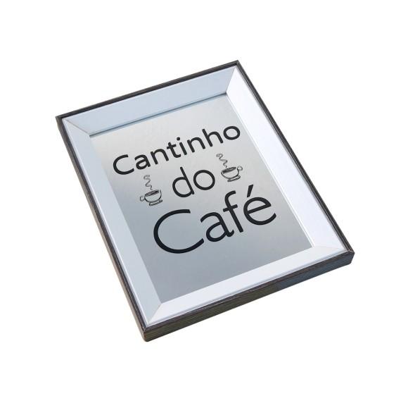 BANDEJA ESPELHADA DE MADEIRA 24X30CM CANTINHO CAFE - GDR0684A-MR